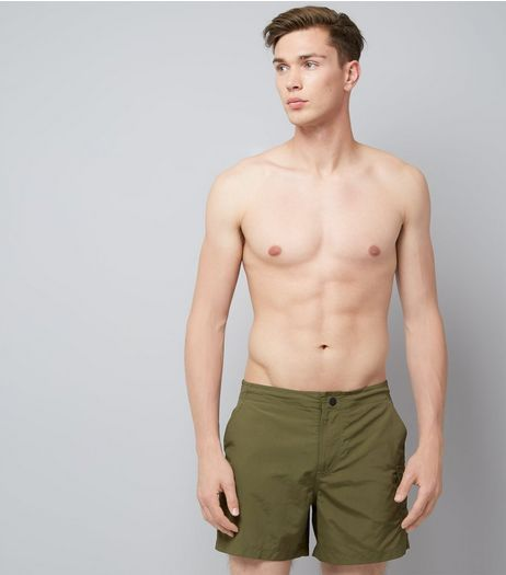 Khaki Utility Swim Shorts | New Look