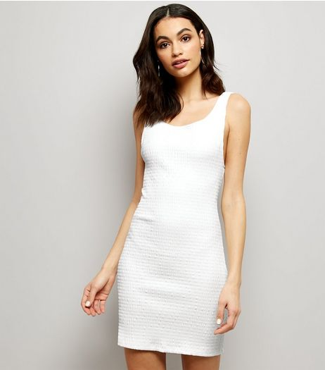 Motel White Scoop Back Mini Dress | New Look
