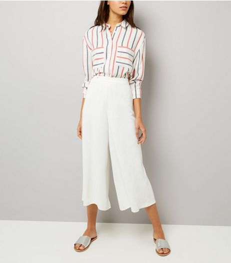 White Flared Culottes | New Look