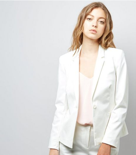 White Premium Suit Jacket  | New Look