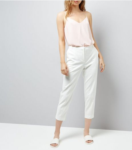 White Premium Suit Trousers | New Look