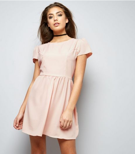 Motel Pink Cap Sleeve Dress  | New Look