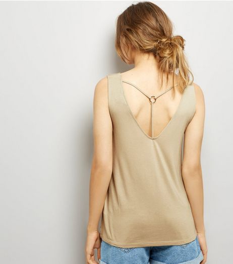 Stone Ring Trim Strap Back Vest | New Look