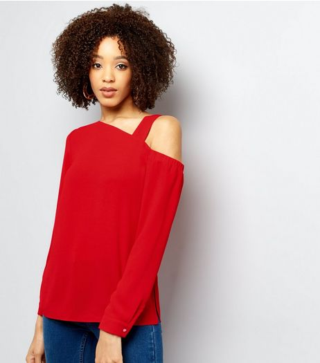 Red Off The Shoulder Top | New Look