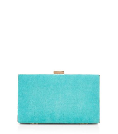 Turquoise Blue Box Clutch | New Look