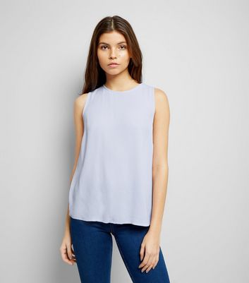 Lilac Tie Back Sleeveless Top