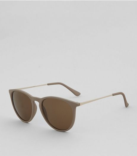Matte Brown Sunglasses | New Look