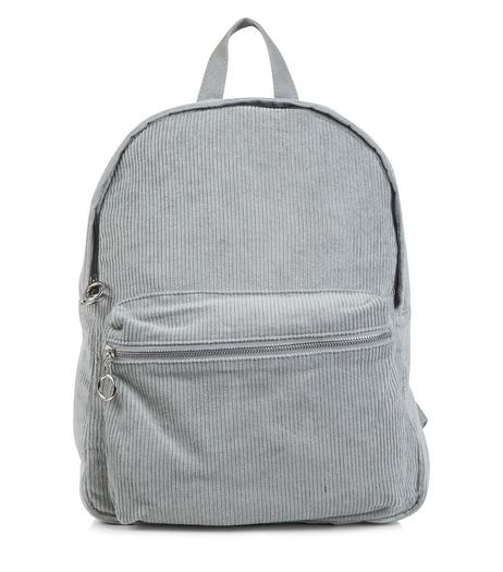Grey Corduroy Backpack | New Look
