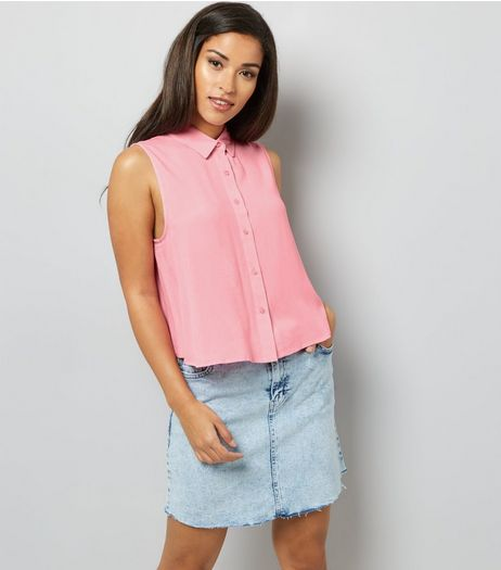 Pink Sleeveless Shirt | New Look