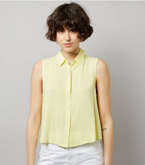 Yellow Sleeveless Shirt | New Look