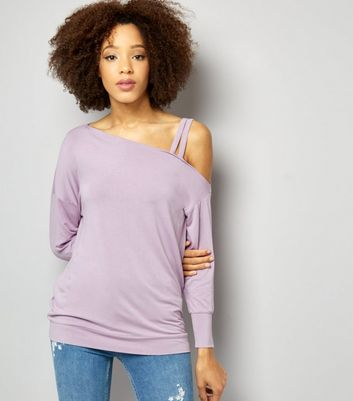 Lilac Double Strap Long Sleeve Jumper
