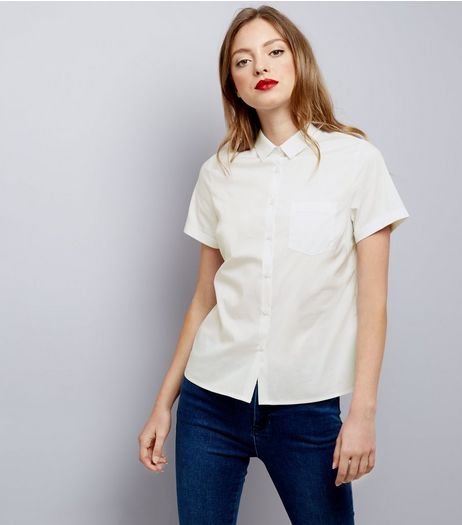 Whtie Short Sleeve Shirt  | New Look