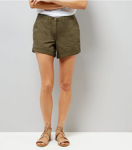 Khaki Chino Shorts | New Look