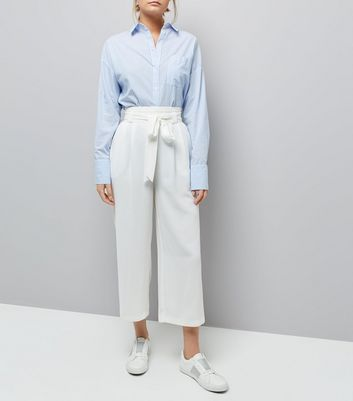 White Tie Front Culottes