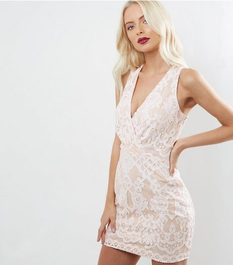 Parisian White Lace Halter Neck Dress  | New Look