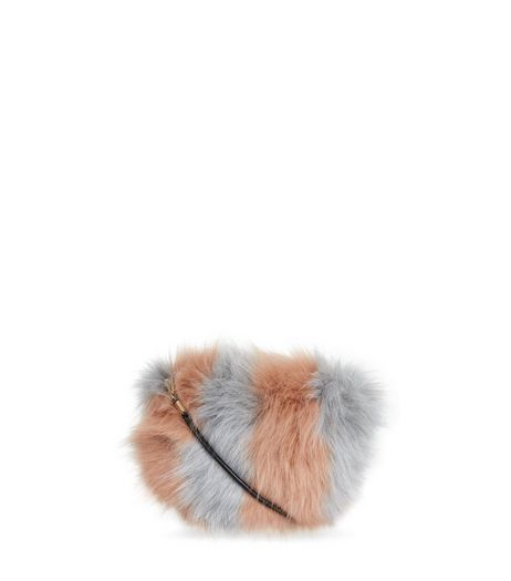 Oatmeal Stripe Faux Fur Cross Body Bag | New Look