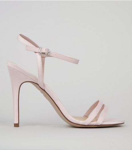 Pink Double Strap Front Heeled Sandals | New Look