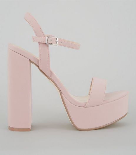 Pink Platform Heel Sandals | New Look