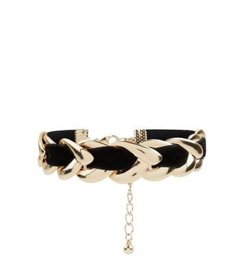Black Velvet Thread Bracelet