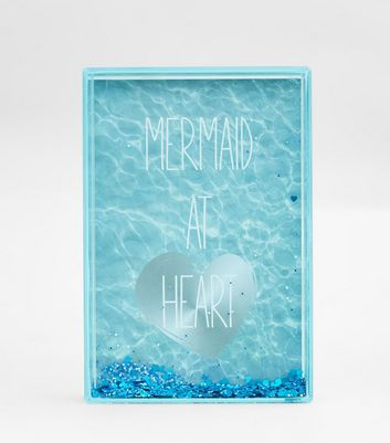 Blue Mermaid Glitter Shake It Photo Frame