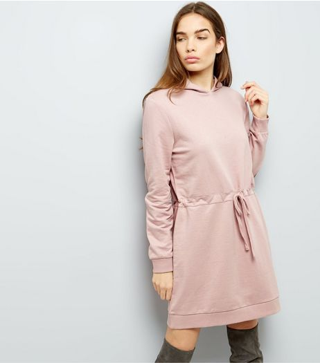 Anita And Green Pink Drawstring Waist Hoodie Dress | New Look