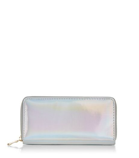Silver Holographic Purse | New Look