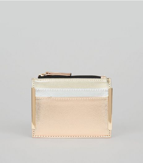 Gold Metallic Cardholder | New Look