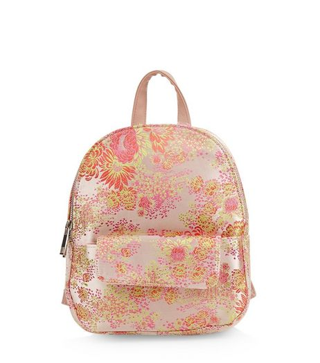 Pink Floral Jaquard Mini Backpack | New Look