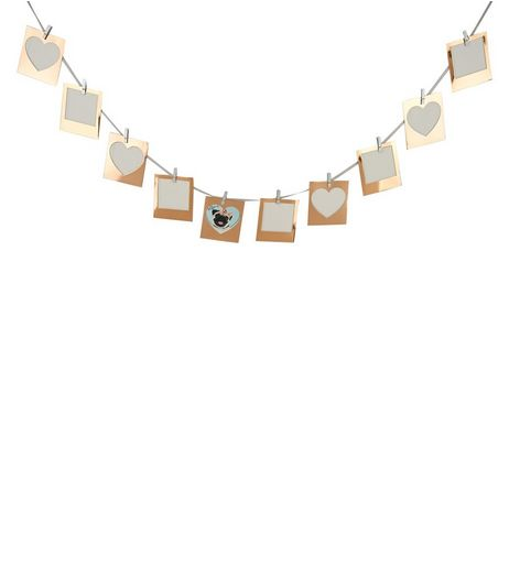 Rose Gold Photo Bunting and Pegs | New Look