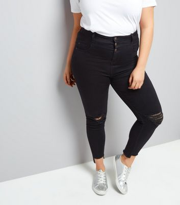 Curves Black High Waist Super Soft Skinny Yazmin Jeans