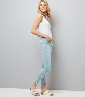 Blue Gemstone Skinny Jeans