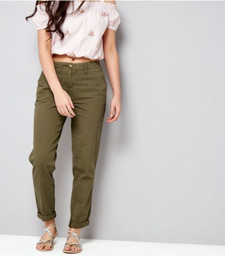 Teens Khaki Chinos | New Look