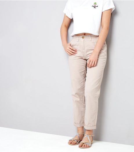 Teens Shell Pink Chinos | New Look