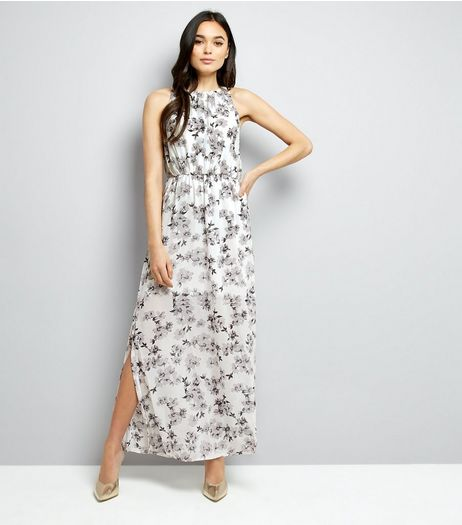 Mela White Floral Chiffon Maxi Dress | New Look