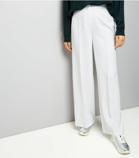 White Wide Leg Trousers | New Look