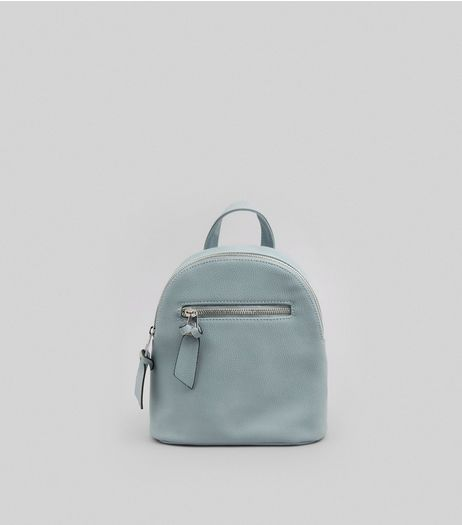Grey Curved Top Mini Backpack | New Look