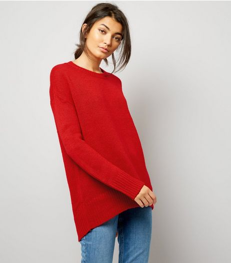 Red Longline Jumper | New Look