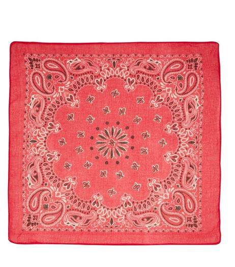 Bright Pink Paisley Print Bandana | New Look