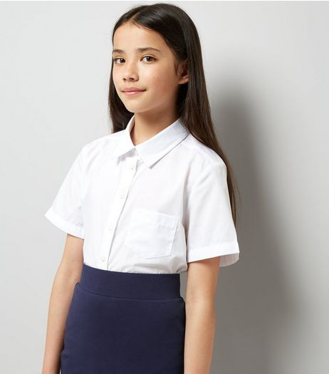 Teens 2 Pack White Short Sleeve Shirts | New Look