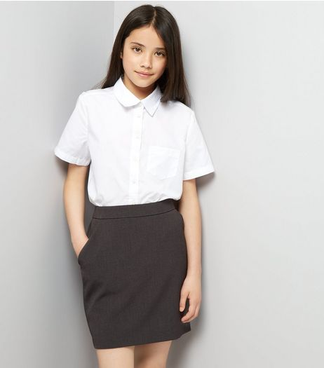 Teens Grey High Waist Skirt | New Look