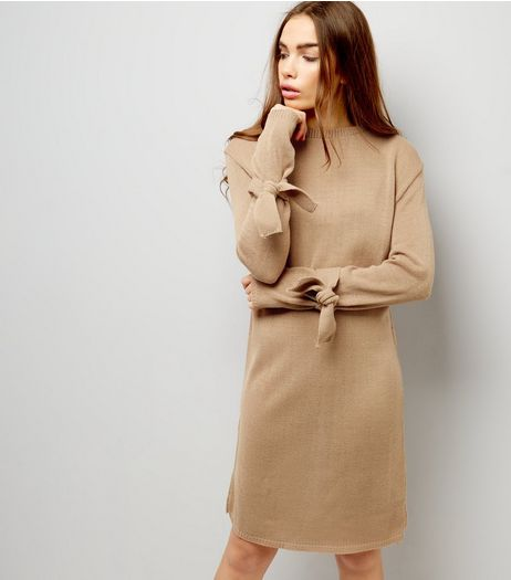 Daisy Street Stone Tie Sleeve Midi Dress | New Look