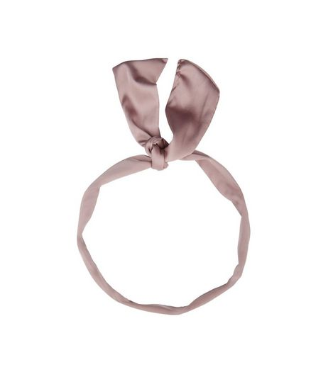 Lilac Sateen Neck Tie | New Look
