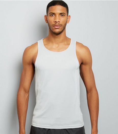 Grey Drop Arm Sports Vest | New Look