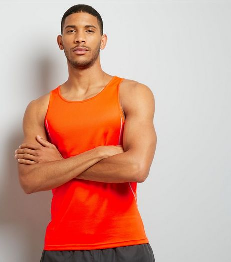 Orange Drop Arm Sports Vest | New Look