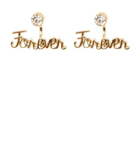 Gold Forever Crystal Ear Jacket | New Look