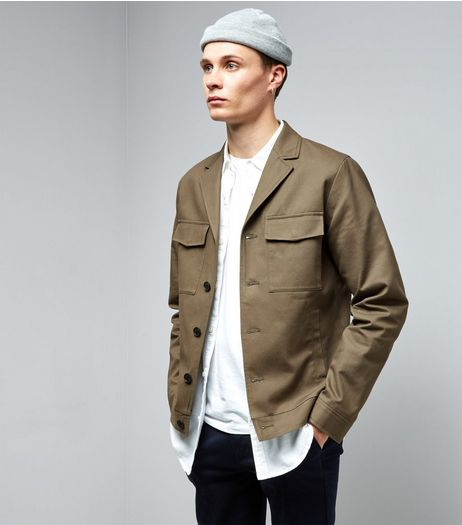 Khaki Double Pocket Tailored Jacket | New Look