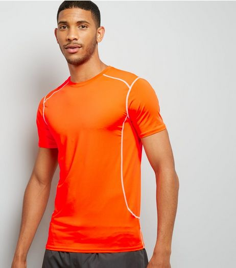 Orange Stretch Short Sleeve Sports T-Shirt | New Look