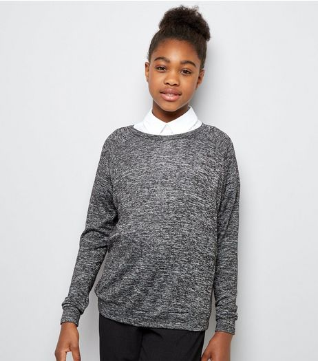 Teens Grey Long Sleeve Jumper | New Look