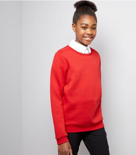 Teens Red Crew Neck Jumper | New Look