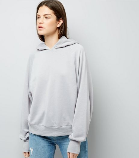 Pale Grey Hoodie | New Look